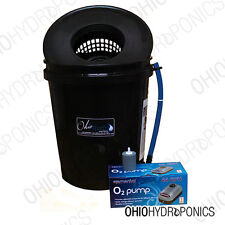 5 Gallon HYDROPONIC GROW KIT SYSTEM 1 PLANT SINGLE SITE DWC Bubbleponics