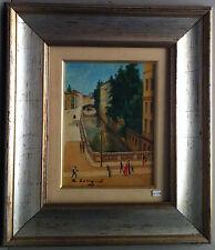 Quadro - Painting - Olio su tavola - Naviglio - 24x18 cm