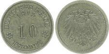 Imperio muy rara muestra torneo 298g2 10 peniques 1915 a F. vz