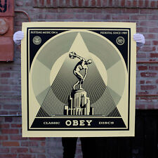 OBEY Shepard Fairey Classic Discs Large Format Serigraph signed # stamped +COA