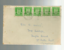 1943 Jersey Channel Islands Occupation Cover England Local Use