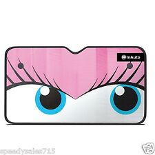 "Universal Car SUV ""Pretty Eyes"" 28 x 51"" Windshield Sunshade Visor New Free Ship"