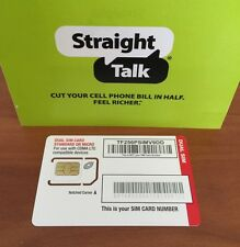 Straight Talk Verizon 4G LTE Compatible Mini/Micro SIM Card