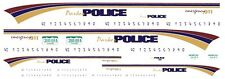 PARKER Police Colorado 1/64th Slot Car Waterslide Decals