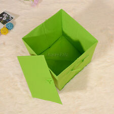 Square Foldable Collapisble Canvas Storage Boxes with handles 27 x 27 x 28 cm