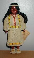 VINTAGE CARLSON DOLLS POCOHANTAS PRINCESS INDIAN DOLL 20-110 - BUCKSKIN, BEADS
