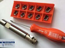 APKT1003-TIALN......Schaftfräser-SET 16mm mit IK. NEU!!