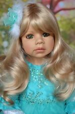 "Masterpiece Jasmine Blonde Wig Fits Up To 18 1/2 "" Head, Doll Not Included."
