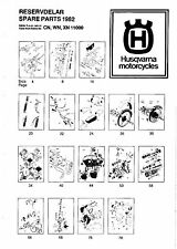 Husqvarna Parts Manual Book 1982 WR 250, CR 250 & XC 250