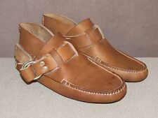NEW Coombs 1830 Brown Leather Handsewn Ring Boot Moccasin Shoes Men's Size 9