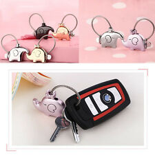 Innovative A Pair Elephant Pendant Keychain For Lovers Couple Key Ring Trinket