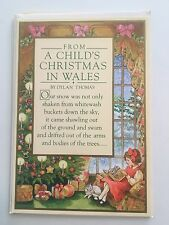 3 Unused Dylan Thomas Child's Christmas in Wales Greeting Cards by Hallmark