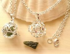 Moldavite Star of David Pendant Amulet Necklace Tektite Talisman Synergy 12