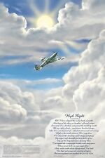 HIGH FLIGHT POEM (LAMINATED) POSTER (61x91cm) Aviation Quote MOTIVATIONAL CHART
