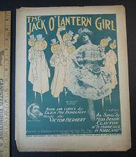 RARE Sheet Music - 1905 - Halloween - Jack o Lantern Girl by Victor Herbert