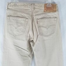 Levis USA Made Vintage 501 Button Fly Wheat Beige Tan 34 X 36 Jeans