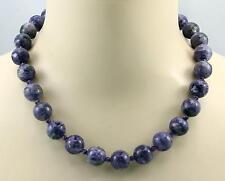 Charoitkette - lila Charoit aus Russland mit Amethyst Halskette für Damen 50 cm