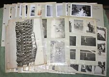Lot of 195 Old Photographs in Photo Album Pages Family Children Military 40s-60s