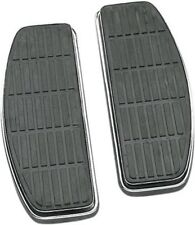 Chrome & Rubber Stock Style Floorboards for Harley Davidson FLT FLST FLD Touring