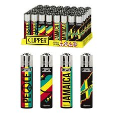 SET DI 4 ACCENDINI CLIPPER RASTAFARI Da Collezione Lighter Gift Box Regalo Kit
