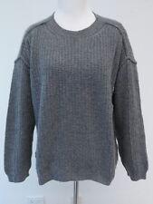 Marni Cashmere Waffle-Knit Sweater Heather Gray Size 40 Gently Worn