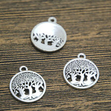 25pcs Tree of Life Charms Antique Silver Tone Tree Charm 16*19mm
