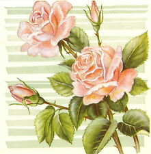 4x Carta Singola Tavola Festa Tovaglioli per Decoupage Decopatch Craft BIG ROSE