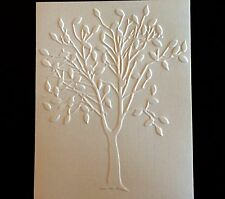 STAMPIN UP+ (4)  TREE DEEPLY EMBOSSED CARD FRONT, CARD TOPPER OR BACKGROUND.