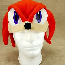 Red Sonic Hedgehog SEGA Plush Fleece Hat One Size Halloween Mask Cap