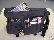 1 Kluge BLACK messenger book bag briefcase computer case tote attache TRAVELER