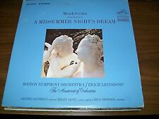 Mendelssohn-Incidental Music-A Midsummer Nights Dream-LP-Insert-Vinyl Record