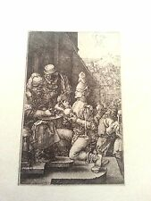 Albrecht Durer 3x4.5 1512 plate signed B11  engraving Pilate Washing his Hands
