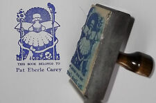 Custom Girl With Dog Ex Libris Bookplate rubber stamp by Amazing Arts Cute!