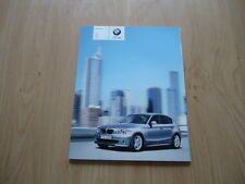 BMW 1 SERIE 116i, 118i, 120i, 118D AND 120D BROCHURE / PROSPEKT 2005