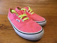 Kids Vans Authentic Vivid Pink Canvas Trainers Casual Shoes UK 13K EUR 31
