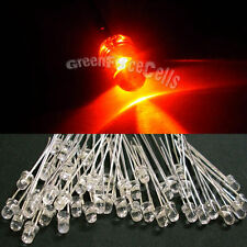50 x 3mm 2 Broches Orange Lampe LED lampe Lumineux 8000 Mcd