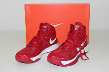 Nike Hyperfuse TB Womens Sz 11 Red White High Top Basketball Athletic Shoes NEW