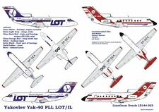 YAKOVLEV YAK 40 AIRLINER - LOT, ILOT (POLISH MKGS) 1/144 LOD BRAND NEW!