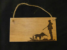 Personalised plaque-game pheasant shooting-outdoor pursuits- any name or message