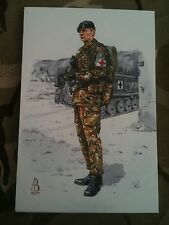 Military Postcard RAMC Royal Army Medical Corps Bosnia 1997 by Alix Baker