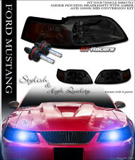 10000K HID XENON W/SMOKE TINT HEAD LIGHTS PARKING SIGNAL AMBER DY 99-04 MUSTANG