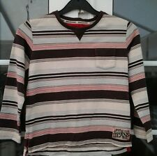 JASPER CONRAN BOYS MULTI COLOURED STRIPED LONG SLEEVED TOP - AGED 7 YRS
