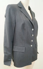 ESCADA Charcoal Grey Wool Stretch Lined Formal Blazer Jacket Coat Sz:40; UK12