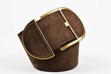 Dolce & Gabbana Brown Suede Wide Belt SZ 80/32