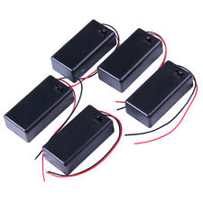 5PCS 9V Battery Holder Box Case  Pack DC with Wire Lead ON/OFF Switch Cover