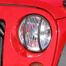 JEEP WRANGLER JK 2007 - 2015 FRONT EURO LIGHT HEADLIGHT GUARDS BLACK