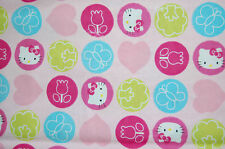 """Springs creative, """"Hello Kitty dots toss"""", flannel, sanrio, 100% COTTON BTY"""