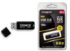 Fast - SuperSpeed 64GB USB 3.0 Flash Drive from Integral - Up To 80MB/s.