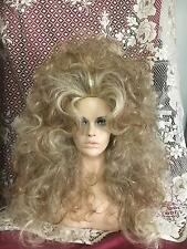 WIGS BIG SEXY HAIR! FROSTED BLONDE HIGHLIGHTS LONG WAVY CURLS TEASED WILD FIERCE