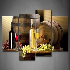 Wine Grape Canvas Wall Art Painting Picture Sculpture Frame Home Modern Decor